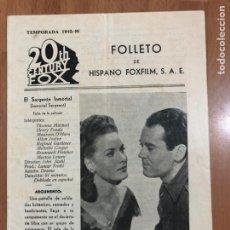 Cine: GUIA HISPANO FOXFILM EL SARGENTO INMORTAL.HENRY FONDA MAUREEN O,HARA. Lote 205555556