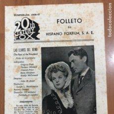 Cine: GUIA HISPANO FOXFILM LAS LLAVES DEL REINO.GREGORY PECK Y THOMAS MITCHELL. Lote 205556323