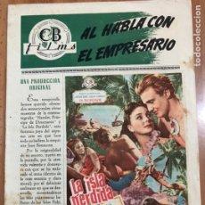 Cine: GUIA CB FILMS LA ISLA PERDIDA.JEAN SIMMONS DONALD HOUSTON. Lote 205556831