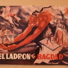 Cine: EL LADRÓN DE BAGDAD. Lote 205587383
