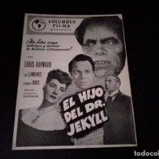 Cine: EL HIJO DEL DR. JEKYLL ORIGINAL. Lote 205591842