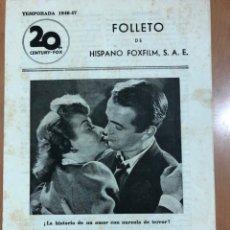Cine: GUIA HISPANO FOXFILM ENVUELTO EN LA SOMBRA.LUCILLE BALL CLIFTON WEBB MARK STEVENS. Lote 205609267