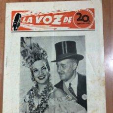 Cinéma: GUIA LA VOZ DE 20TH CENTURY FOX.CARMEN MIRANDA,EL CISNE NEGRO TYRONE POWER. Lote 205609465