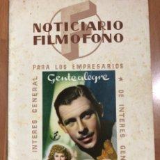 Cine: NOTICIARIO FILMOFONO 1944.GENTE ALEGRE LUCILLE BALL.LA CALLE 44 ANNE SHIRLEY. Lote 205609825