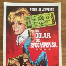Cinema: UN DOLAR DE RECOMPENSA - PETER LEE LAWRENCE / ORQUIDEA DE SANTIS - GUIA SIMPLE. Lote 205657215