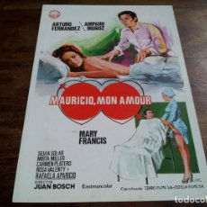 Cinéma: MAURICIO, MON AMOUR - ARTURO FERNANDEZ, AMPARO MUÑOZ, MIRTA MILLER - GUIA IZARO AÑO 1976 - JANO. Lote 205692250