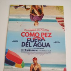Cine: COMO PEZ FUERA DE AGUA GUIA PUBLICITARIA ORIGINAL DE CINE. Lote 201720771