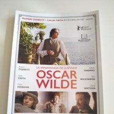 Cine: OSCAR WILDE GUIA PUBLICITARIA ORIGINAL DE CINE. Lote 201720850