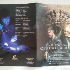 Cine: EL SILENCIO DE LA CIUDAD BLANCA GUIA PUBLICITARIA ORIGINAL DE CINE. Lote 201720876