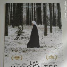 Cine: LAS INOCENTES GUIA PUBLICITARIA ORIGINAL DE CINE. Lote 201720922