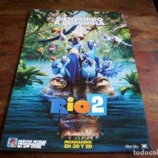 Cine: RIO 2 - ANIMACION - GUIA ORIGINAL FOX AÑO 2014. Lote 206204745