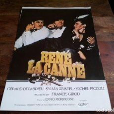 Cine: RENÉ LA CANNE - GERAD DEPARDIEU, SYLVIA KRISTEL, MICHEL PICCOLI - GUIA ORIGINAL GOFER FILMS AÑO 1977. Lote 206206351