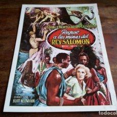 Cine: REGRESO A LAS MINAS DEL REY SALOMON - GEORGE MONTGOMERY, TAINA ELG - GUIA MAHIER AÑO 1975. Lote 206206968