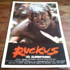 Cine: RUCKUS EL ALBOROTADOR - DIRK BENEDICT, LINDA BLAIR, BEN JHONSON - GUIA ORIGINAL AÑO 1981. Lote 206209445
