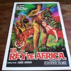 Cine: EL REY DE AFRICA - TY HARDIN, PIER ANGELI, ROSSANO BRAZI - GUIA ORIGINAL COOPER FILMS AÑO 1974 JANO. Lote 206212107