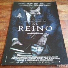 Cine: EL REINO - ANTONIO DE LA TORRE, JOSE MARIA POU, MONICA LOPEZ - GUIA ORIGINAL WARNER 2018. Lote 206212847
