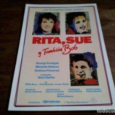 Cine: RITA,SUE Y TAMBIEN BOB - MICHELLE HOLMES, GEORGE COSTIGAN - GUIA ORIGINAL CONTRAPLANO AÑO 1986. Lote 206213710