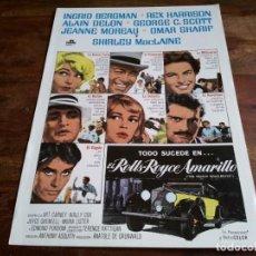 Cine: EL ROLLS ROYCE AMARILLO - INGRID BERGMAN, ALAIN DELON, OMAR SHARIF - GUIA ORIGINAL INCINE AÑO 1975. Lote 206214080