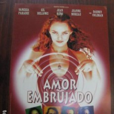 Cine: AMOR EMBRUJADO - GUIA PUBLICITARIA ORIGINAL - VANESSA PARADISE JEANNE MOREAU UN AMOUR DE SORCIÈRE. Lote 206219326