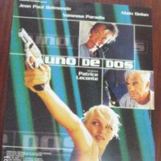 Cine: UNO DE DOS - GUIA PUBLICITARIA ORIGINAL - VANESSA PARADISE ALAIN DELON JEAN PAUL BELMONDO. Lote 206219548