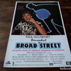 Cinéma: RECUERDOS A BROAD STREET - PAUL MCCARTNEY, RINGO STARR,TRACEY ULLMAN - GUIA ORIGINAL INCINE AÑO 1984. Lote 206320196