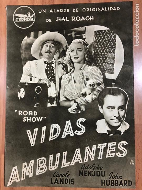 GUIA CEPICSA VIDAS AMBULANTES.CAROLE LANDIS,ADOLPHE MENJOU (Cine - Guías Publicitarias de Películas )