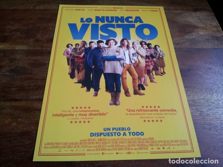 LO NUNCA VISTO - CARMEN MACHI, PEPON NIETO, KITI MANVER, PACO TOUS - GUIA ORIGINAL FILMAX AÑO 2019 (Cine - Guías Publicitarias de Películas )