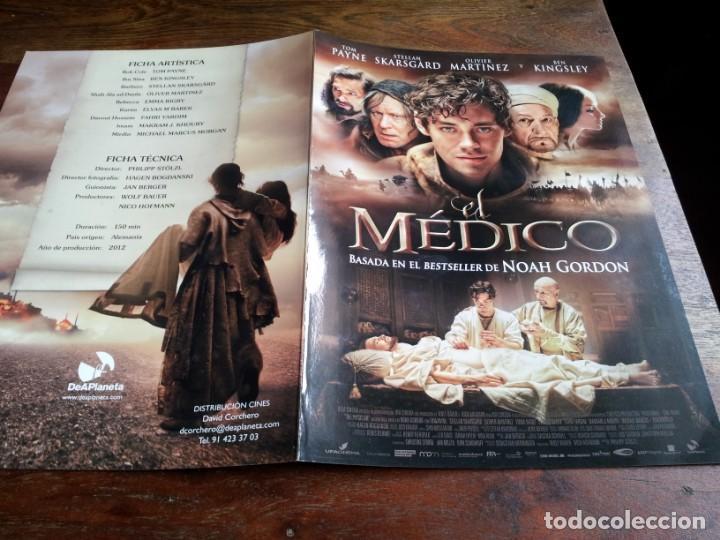 EL MEDICO - TOM PAYNE, BEN KINGLEY, STELLAN SKARSGARD - GUIA ORIGINAL DEAPLANETA AÑO 2013 (Cine - Guías Publicitarias de Películas )