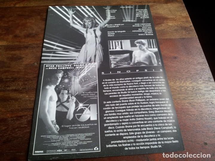 Cine: 54 ( Estudio ) - salma hayed, ryan phillippe, neve campbell, mike myers - guia original lauren 1998 - Foto 2 - 206401953