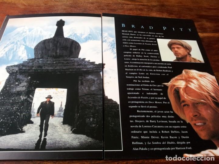Cine: siete años en el tibet - brad pitt dir. jean-jacques annaud - guia original tripictures año 1997 - Foto 2 - 206402006