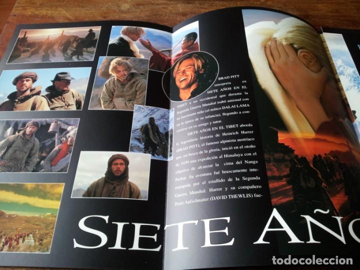 Cine: siete años en el tibet - brad pitt dir. jean-jacques annaud - guia original tripictures año 1997 - Foto 3 - 206402006