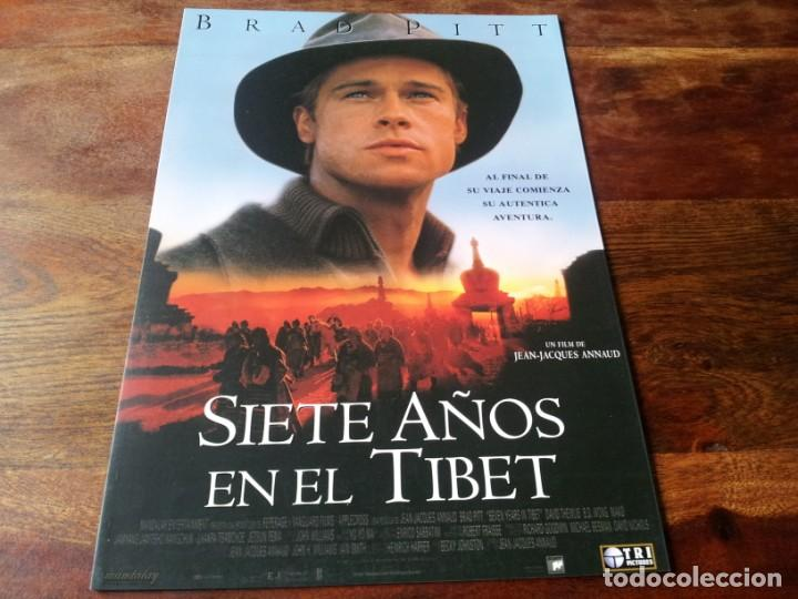 SIETE AÑOS EN EL TIBET - BRAD PITT DIR. JEAN-JACQUES ANNAUD - GUIA ORIGINAL TRIPICTURES AÑO 1997 (Cine - Guías Publicitarias de Películas )