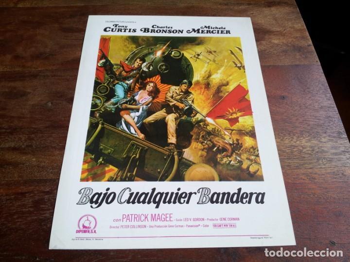 BAJO CUALQUIER BANDERA - TONY CURTIS, CHARLES BRONSON, MICHELE MERCIER - GUIA ORIGINAL DIPENFA 1971 (Cine - Guías Publicitarias de Películas )