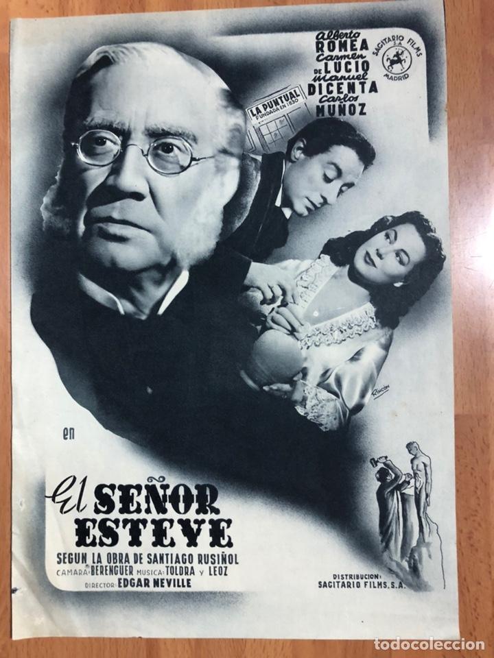 GUIA SAGITARIO FILMS EL SEÑOR ESTEVE.ALBERTO ROMEA,CARMEN DE LUCIO,MANUEL DICENTA.EDGAR NEVILLE (Cine - Guías Publicitarias de Películas )