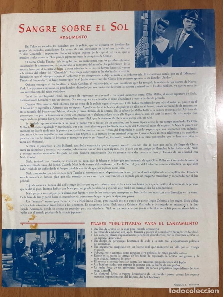 Cine: Guia exclusivas floralva sangre sobre el sol.James Cagney y Sylvia Sidney - Foto 2 - 206404715