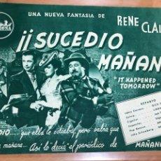 Cine: GUIA CEPICSA SUCEDIÓ MAÑANA.LINDA DARNELL DICK POWELL.RENE CLAIR. Lote 206406673