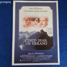 Cine: GUIA: CINCO DIAS, UN VERANO. CON: SEAN CONNERY, BETSY BRANTLEY. Lote 206565471