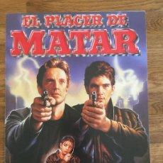 Cinéma: EL PLACER DE MATAR - ANTONIO BANDERAS / VICTORIA ABRIL - GUIA 4 HOJAS. Lote 206777721