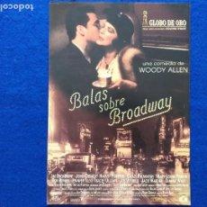Cine: GUIA: BALAS SOBRE BROADWAY. CON: WOODY ALLEN JOHN CUSACK. Lote 207005158