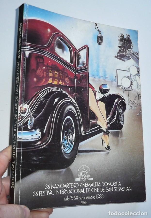 CATÁLOGO DEL 36 FESTIVAL INTENACIONAL DE CINE DE SAN SEBASTIAN ZINEMALDIA (1988) (Cine - Guías Publicitarias de Películas )