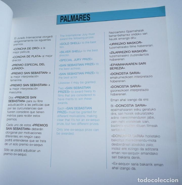 Cine: Catálogo del 36 Festival Intenacional de Cine de San Sebastian Zinemaldia (1988) - Foto 3 - 207026923