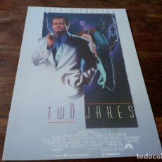 Cine: THE TWO JAKES - HARVEY KEITEL, JACK NICHOLSON,MEG TILLY, ELI WALLACH - GUIA ORIGINAL U.I.P AÑO 1990. Lote 207033617