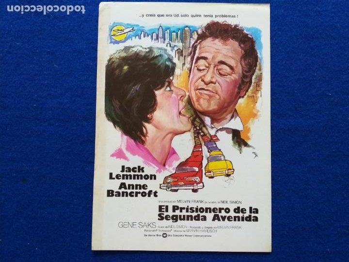 GUIA: EL PRISIONERO DE LA SEGUNDA AVENIDA. CON: JACK LEMMON, ANNE BANCROFT. AÑO 1975 (Cine - Guías Publicitarias de Películas )