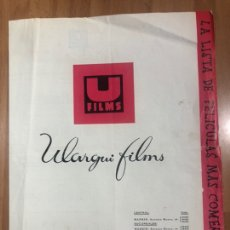 Cinéma: GUIA U ULARGUI FILMS.LUSTA DE MATERIAL.JOHN WAYNE ERICH VON STROHEIM..... Lote 207099722