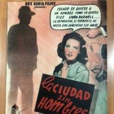 Cine: GUIA REY SORIA FILMS LA CIUDAD SIN HOMBRES.LINDA DARNELL EDGAR BUCHANAN MICHAEL DUANE. Lote 207125783