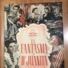 Cine: GUIA CIFESA EL FANTASMA Y DOÑA JUANITA.ANTONIO CASAL MARY DELGADO.RAFAEL GIL. Lote 207126480