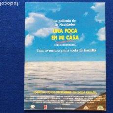Cine: GUIA: UNA FOCA EN MI CASA. CON: GEORGE MILLER, ANDRE KEITH CARRADINE, TINA MAJORINO.. Lote 207163145