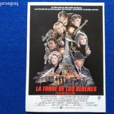 Cine: GUIA: LA TORRE DE LOS REHENES. CON: CLAUDIO GUZMAN, ALISTAIR MACLEAN, PETER FONDA, MAUD ADAMS. 1981.. Lote 207164856