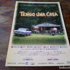 Cine: TENGO UNA CASA - SILKE, NANCHO NOVO, ERNESTO ALTERIO - GUIA ORIGINAL WARNER 1996 LOS ENEMIGOS. Lote 207227372