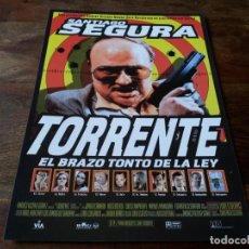 Cine: TORRENTE EL BRAZO TONTO DE LA LEY - TONY LEBLANC, JAVIER CAMARA,SANTIAGO SEGURA - GUIA ORIGINAL 1998. Lote 207228398